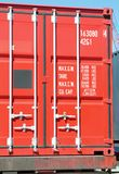 Verschepende container stock fotografie