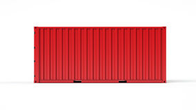 Verschepende container Stock Foto's
