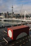 Verschepende container in de haven van Auckland Royalty-vrije Stock Foto's