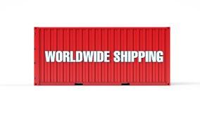 Verschepende container wereldwijd Stock Foto