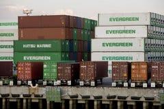 Verschepende Containers Stock Fotografie