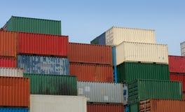 Verschepende containers 2 stock afbeeldingen