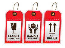 Verschepende Etiketten stock illustratie