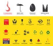 Verschepende symbolen royalty-vrije stock foto's