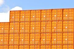 Verschepende vrachtcontainers Stock Fotografie