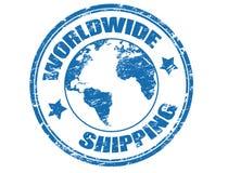 Verschepende zegel wereldwijd Stock Afbeeldingen