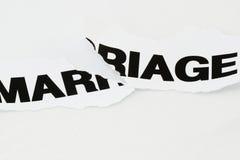 Verscheurd huwelijk Stock Foto