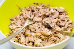 Verscheurd varkensvleesvlees royalty-vrije stock foto's