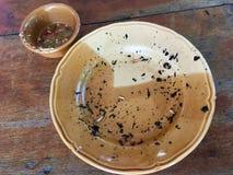 Verscheurde brandwond van garnalen na het eten royalty-vrije stock fotografie