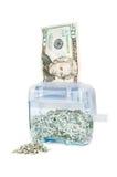 Verscheurend Uw Geld - $20 met stapel Royalty-vrije Stock Afbeelding