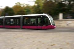 Verschieben der Straßenbahn von Dijon, Frankreich stockfoto