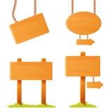 Verschieden geformtes Holzschildbrett Stockbilder