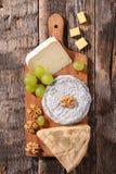 Verschieden vom Käse stockfotos
