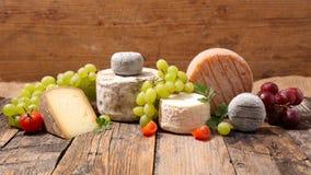 Verschieden vom Käse stockbild