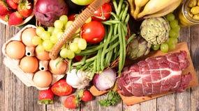 Verschieden vom Lebensmittel stockfotos