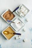 Verschieden vom Zucker lizenzfreie stockbilder