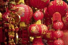 Verschieden von Charme decolation, das an China-Stadt herein vor Tag des Chinesischen Neujahrsfests verkauft lizenzfreies stockfoto