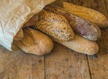 Verschieden von den französischen Broten lizenzfreie stockfotos