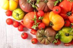 Verschieden von den Tomaten stockbild