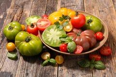 Verschieden von der Tomate stockbild