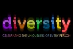 Verschiedenartigkeit in den Regenbogenfarben Stockfotos