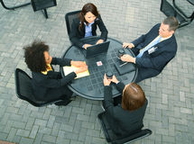 Verschiedenartigkeit-Gruppe Geschäftsleute Stockbilder