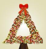 Verschiedenartigkeit lässt Weihnachtsbaum Stockfoto