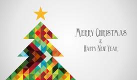 Verschiedenartigkeitmosaik Arty Weihnachtsbaum Lizenzfreie Stockfotos