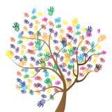 Verschiedenartigkeits-Baum-Hände Stockbilder