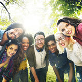 Verschiedenartigkeits-Freund-Freundschaft Team Community Concept lizenzfreie stockfotografie