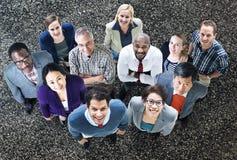 Verschiedenartigkeits-Geschäftsleute Aspirations-Teamwork-Konzept- Stockbild
