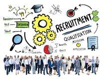 Verschiedenartigkeits-Geschäftsleute Einstellungs-Beruf-Konzept- Lizenzfreie Stockfotos