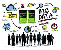 Verschiedenartigkeits-Geschäftsleute große Daten, dieoben Konzept schauen Stockbild