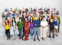 Verschiedenartigkeits-große Gruppe von Personenen-multiethnisches Konzept lizenzfreie stockfotos