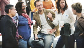 Verschiedenartigkeits-Leute-Gruppe Team Meeting Concept Lizenzfreies Stockfoto