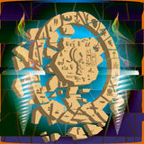 Verschiedene ägyptische Symbole des Bildes mit Hintergrund Stockfoto