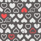 Verschiedene abstrakte Herzikonen Stockfotos