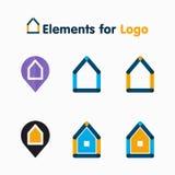 Verschiedene abstrakte Ikonenhäuser Lizenzfreie Stockbilder
