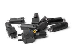 Verschiedene Adapter für Ladegerät Lizenzfreie Stockfotografie
