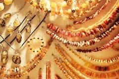Verschiedene Amber Necklaces Stockbild