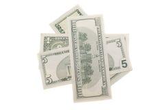 Verschiedene amerikanische Dollar greenpacks Lizenzfreie Stockbilder