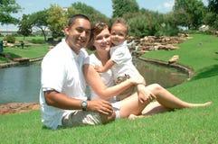 Verschiedene amerikanische Familie Stockbild