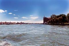 Verschiedene Ansichten der touristischen Stadt von Venedig, Italien Lizenzfreies Stockbild