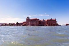 Verschiedene Ansichten der touristischen Stadt von Venedig, Italien Lizenzfreie Stockfotos