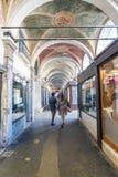 Verschiedene Ansichten der touristischen Stadt von Venedig, Italien Stockbild
