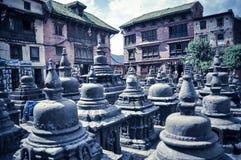 Verschiedene Ansichten von Stupa kitschiges Shyam Ponat u. x28; Swayambhunath& x29; oder M Stockfoto