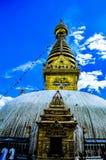 Verschiedene Ansichten von Stupa kitschiges Shyam Ponat u. x28; Swayambhunath& x29; oder M Stockfotografie
