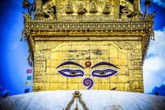 Verschiedene Ansichten von Stupa kitschiges Shyam Ponat u. x28; Swayambhunath& x29; oder M Stockfotos