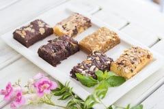 Verschiedene Aromaschokoladenkuchenschokoladenkuchen Stockfoto