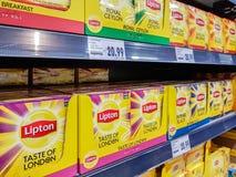 Verschiedene Art von Lipton-Tee lizenzfreies stockbild